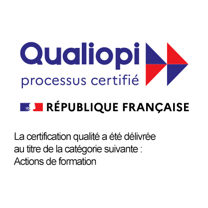 Logo de la certification pour qualiopi